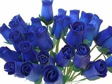 WHOLESALE NAVY BLUE ARTIFICIAL FLOWERS WOODEN ROSES IDEAL HOME DECOR & WEDDING
