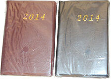 2014 MINI POCKET DIARY MONTH WEEK DAY WISE WITH CALENDER SEMI HARDBACK TRAVEL