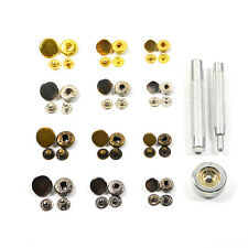 Metal Snap Fasteners Poppers Press Stud Sewing Leather Button With Press Tool