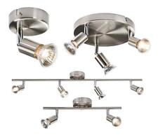 1 2 3 & 4 ADJUSTABLE BAR CEILING SPOTLIGHTS C/W GU10 50W LAMPS IN BRUSHED CHROME