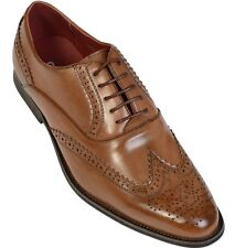 GIOVANNI MEN'S FORMAL/WEDDING LACE UP FORMAL SMART PARTY/WEDDING SHOES BROWN