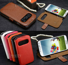 S View Flip Real Leather Smart Stand Case Cover For Samsung GALAXY S IV S4 i9500