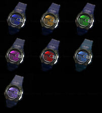 7 color Backlight New OHSEN Alarm Digital Waterproof Sport Mens Boys Wrist Watch