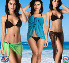 Coqueta Mesh Bikini Swimwear Cover Up Sarong Pareo Swimsuit wrap Women Ladies