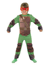 Child Classic Teenage Mutant Ninja Turtle Kids Fancy Dress Costume + 4 Masks