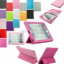 NEW SLIM 3FOLD STAND SLEEP WAKE SMART COVER PU LEATHER CASE FOR APPLE IPAD 2 3 4
