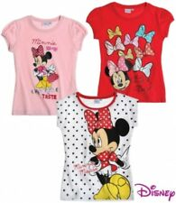Girls Disney Minnie Mouse T-shirt Top Sleeveless T shirt Top Age 2-8 Years