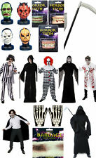 MENS BOYS HALLOWEEN FANCY DRESS OUTFITS & ACCESSORIES GRIM REAPER VAMPIRE SCREAM