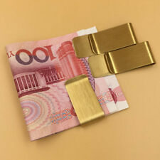 Wholesale Lots Man Blank Brass/copper Gold money clip Fashion Gift Free Ship Q2