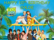 A4 TEEN BEACH MOVIE PERSONALISED CAKE TOPPER ON ICING OR WAFER PAPER