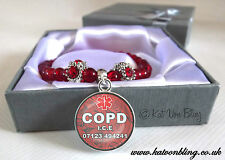 Beautiful Medical Alert Stretchy Bracelets-Made Personally For You-Any Words ***