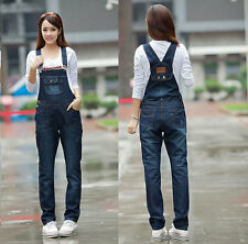 Womens Long Denim Jeans Work Farm Jumpsuits Strap Trousers Bib Pants Overalls
