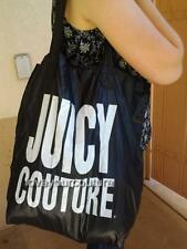 Juicy Couture Fold Up Nylon Pop Tote Gift Bag NWT Black or Purple YHRUO049