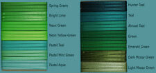 "6-yd 1/8"" inch SATIN RIBBON lime neon pastel mint green teal lime spring moss"
