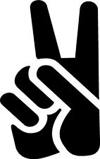 peace sign 2 two finger  VINYL DECAL STICKER 1397 +