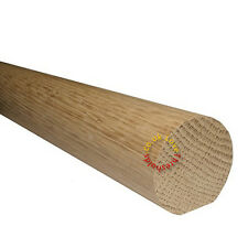 OAK HANDRAIL - ROUND MOPSTICK - UPTO 4.2M LONG - AVAILABLE IN VARIOUS FINISHES