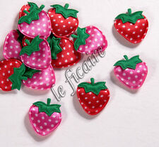 "U PICK~ 7/8"" Polka Dots Satin Strawberry Appliques Girls Dolls Trims x 80 #2714"