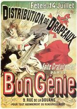 COMMEMORATION OF 14TH JULY by Jules Chéret 1881 - Vintage French Poster (SG2290)