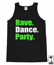 RAVE DANCE PARTY EDM MUSIC HOUSE ELECTRO DUBSTEP CLUB HARDFEST CONCERT TANK TOP