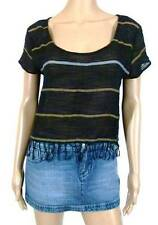 RUSTY New Ladies Womens Top Shirt Sizes - 8 10 Black Riviera