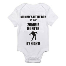 MUMMY'S LITTLE BOY BY DAY ZOMBIE HUNTER BY NIGHT - Halloween Themed Baby Grow