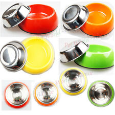 New 2013 Stainless Steel Pet Dog Cat Travel Bowl for Pets 4 colors  bowl dish