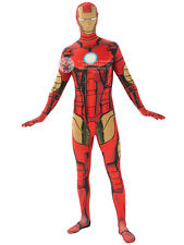 Adult Avengers 2nd Skin Iron Man Fancy Dress Costume Superhero Mens