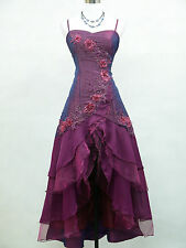 Cherlone Satin Purple Ball Wedding/Evening Gown Prom Formal Bridesmaid Dress