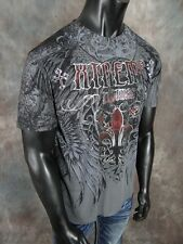 Mens Affliction XTREME COUTURE Silver Trim Logo In Gray MMA Fighter