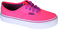 Vans Authentic Junior Kids Neon Pink Plimsoll Canvas Trainers
