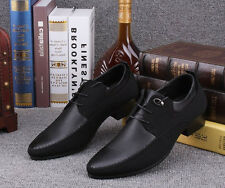 New Fashion Mens wedding Shoes black Formal casual patent lace up  dress shoes