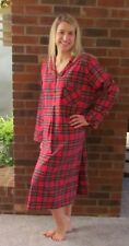 Ladies Sleep Shirt Red Stewart Plaid Holiday Price Wonderful gift