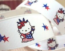 1 meter 7/8 '' kitty statue of liberty grosgrain ribbonUK stock