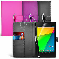 Book Wallet Leather Case Cover For Google Nexus 7 II 2 2nd Generation 2013
