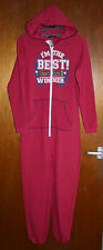 BNWT 'I'M THE BEST!' NO 1 WINNER ONESIE SLEEPSUIT ALL IN ONE PYJAMAS LOUNGEWEAR