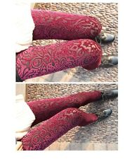 women's fashion leggings new design in spring 2014 with lace flower high elastic