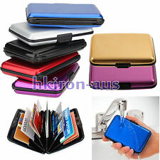 Waterproof Business ID Credit Card Wallet Holder Aluminum Metal Case Box Organiz