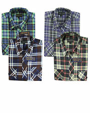 Mens Flannel Work Casual Smart Formal Lumberjack Check Shirt Brush Cotton Top