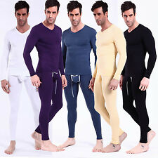 NEW Sexy Men's Modal Thermal Set Underwear Pant+Top Long T-shirts & Long Johns