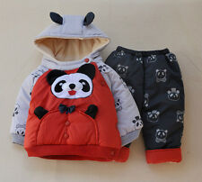 Winter super thick Baby Boys clothes Jacket+Pants Baby Girls clothing outfits