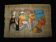Egyptian Papyrus genuine hand painted Cleopatra, King Tut and Nefertiti