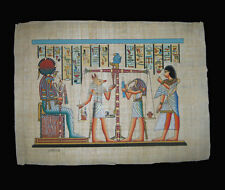 Egyptian Papyrus genuine hand painted The Last Judgement 43x33cm