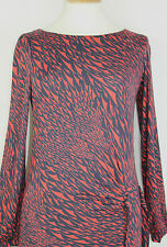 ex FCUK / French Connection Great Plains, All Over Print Top Side Tie Waist