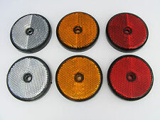 *FREE P&P* 60mm Round Drive Way Post Reflectors - Screw on - Red - Amber - White