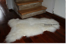 GENUINE  SHEEPSKIN RUG-FLUFFY NATURAL WHITE WOOL