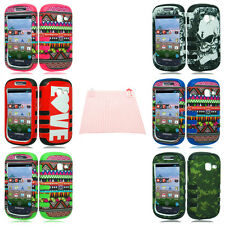 Tuff Shield Hybrid Gel Case Cover for Samsung Galaxy Centura + AKIT
