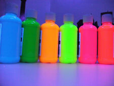 UV NEON FLUORESCENT WATER COLOR Paints Set of 6