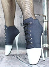 LIMITED EDITION Ankle High Heel Ballet Boots Inspired By Converse, Uk Based
