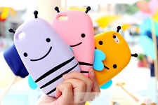 Mobile Phone Cover for Apple iPhone 5 5S 3D Cute Bee Silicone Case