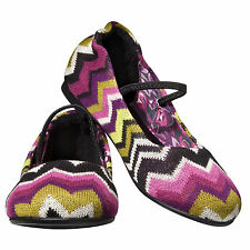 MISSONI FOR TARGET-  ZIGZAG BALLET FLATS ~ALL SIZES ~ FUSCHIA OR VENITIAN
